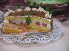 Erdbeer-Kokos Torte - Rezept