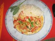 Paprika-Geschnetzeltes mit Kokossauce - Rezept