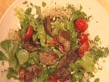 """""""Salade lapin"""" Salatvariation mit Kaninchenleber und einer Vinaigrette - Rezept"""