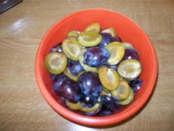 Versunkener Pflaumenkuchen - Rezept