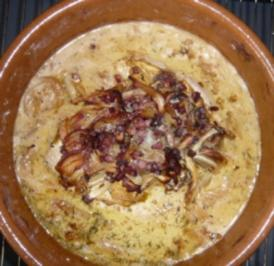 Hähnchen - Zwiebel - Apfel - Brust - Rezept