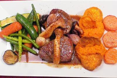 Kreolische Tournedos mit drei Süßkartoffel-Variationen - Rezept