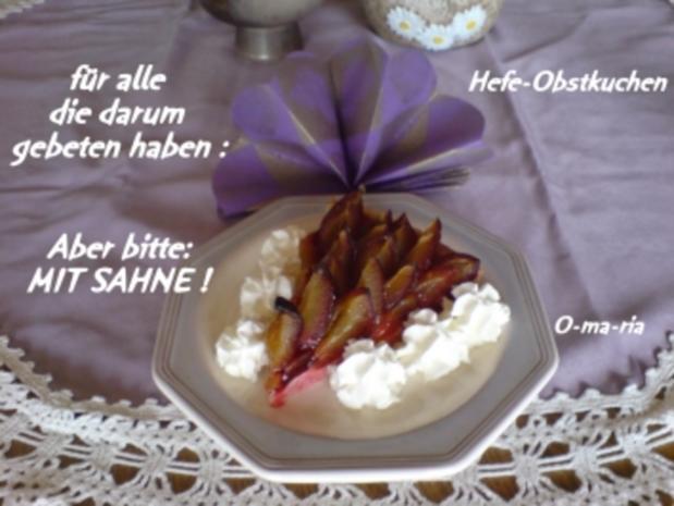 Kuchen  Hefe-Obstkuchen - Rezept - Bild Nr. 2