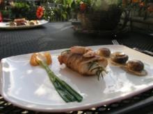 Spießiger Fisch im Mantel mit Gepäck - Rezept