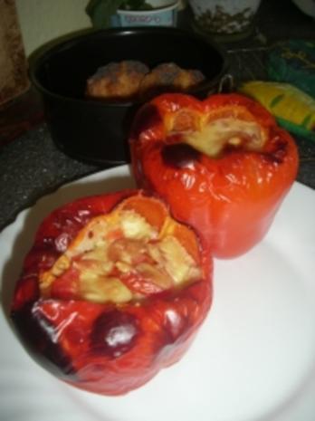 Sommer-Couscousgratin in der Paprikaschote - Rezept