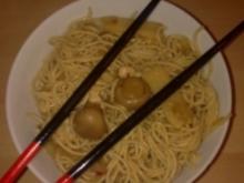 chinesische Eiernudeln mit Putenfleisch - Rezept
