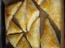 Gefüllte Blätterteigtaschen - Rezept