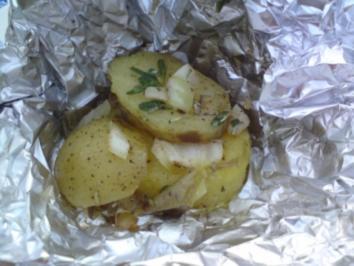 gegrillte Kräuterkartoffeln - Rezept