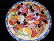 Kunterbunter Salatteller - Rezept