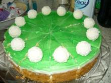 Waldmeister-Kokos Torte - Rezept