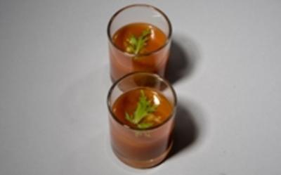 Geeiste Tomaten Pfirsichsuppe - Rezept