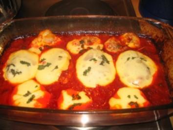 Fleisch: Basilikumschnitzel, gerollt, überbacken! - Rezept