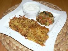 ital. Kartoffelpuffer mit Gemüsetartar - Rezept