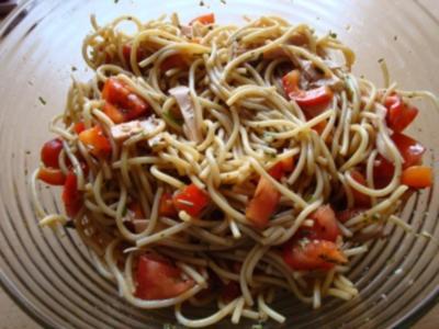 Spaghettisalat mit Pute - Rezept