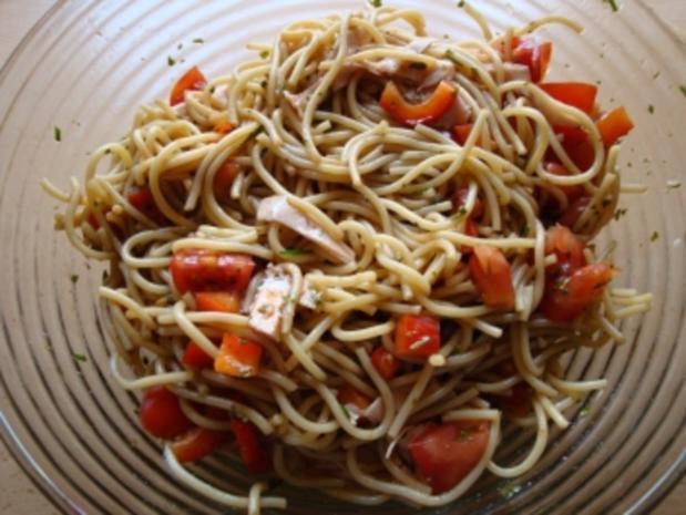 Spaghettisalat mit Pute - Rezept - Bild Nr. 2
