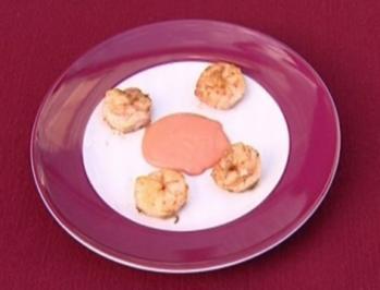 Garnelen vom Grill mit Sauce au Roi (Michael Müller) - Rezept