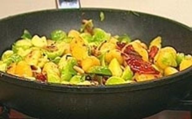 Gnocchipfanne mit Rosenkohl - Rezept