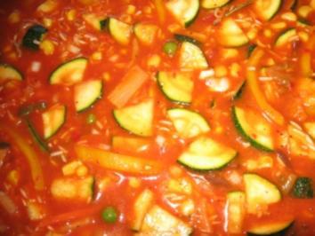 Gemüse-Reis aus dem Backofen - Rezept