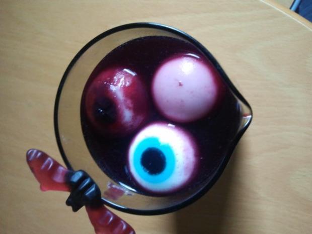 Verrückte Glibber-Augen-Bowle für Kinder - Rezept