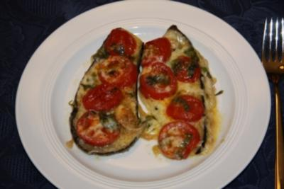 Auberginen mit Mozzarella - Rezept