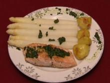 Wildlachs mit weißem Spargel und Butterkartoffeln (Isabell Hertel) - Rezept