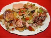 Salat: - Mein Laugenbrezen Wurstsalat - - Rezept