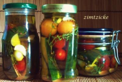 Zucchini & Cocktailtomaten – eingelegt - Rezept