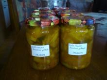 Eingemachte Zucchini süß-sauer - Rezept