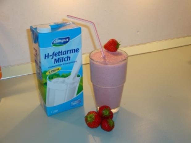 Bananen-Mangoeis-Milchmixgetränk/ Erdbeer-Erdbeereis- Milchmixgetränk - Rezept - Bild Nr. 3