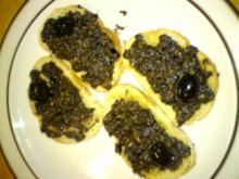 Oliven-Sardellen Paste für Baguette - Rezept