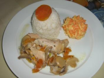 Huhn mit getrockneten Aprikosen - Rezept