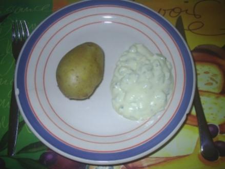 Vegetarisch - Pellkartoffel mit Quark - Rezept