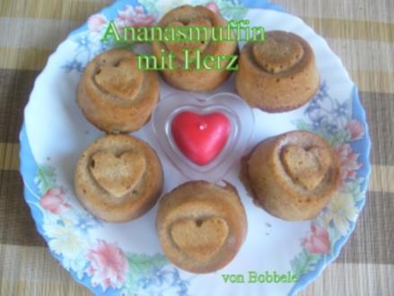 Muffin: Ananas-Muffins mit Herz - Rezept