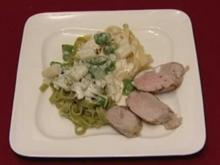 Bandnudeln mit Spargel-Mascarpone-Soße an Schweinefilet (Jan Stecker) - Rezept