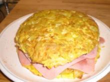 Tortilla de patatas rellena (Gefüllte spanische Tortilla) - Rezept