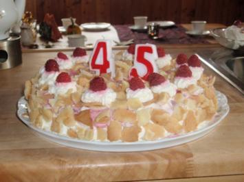 Zarte Himbeer-Flocken-Torte - Rezept