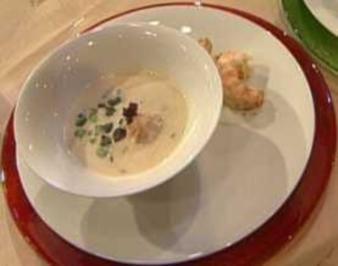 Topinambursuppe mit Langostino a la Frank Buchholz - Rezept