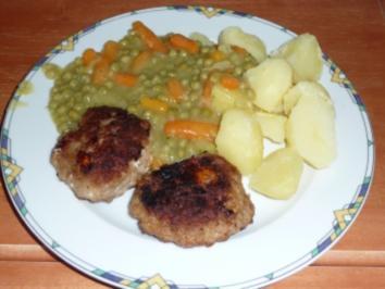 Rezept: Schafskäse-Buletten mit gemischtem Gemüse und Kartoffeln