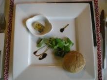 Pfifferlinge in Sektgelee an mariniertem Feldsalat - Rezept