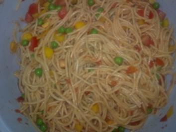Spaghettisalat - Rezept
