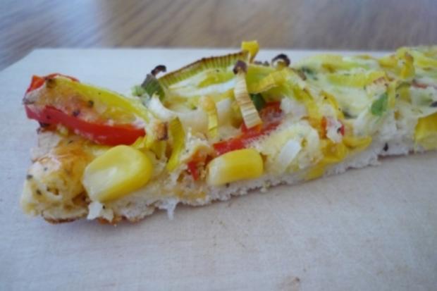 Gemüseecken mit Käsesauce - Rezept