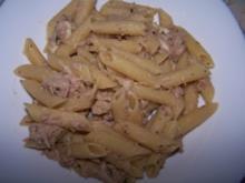 Penne mit Thunfisch und Mozzarella - Rezept