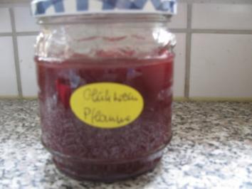 Glühwein Pflaumen Konfitüre für 6 - 8 Gläser - Rezept