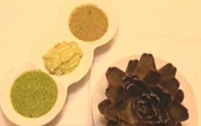 Frische Artischocke mit Guacamole, Kräutervinaigrette und Pesto - Rezept