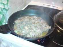 Hähnchenschaschlik in Rotwein-Senf-Sauce - Rezept