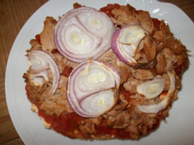 Fladenbrot-Pizza mit Thunfisch - Rezept - Bild Nr. 2