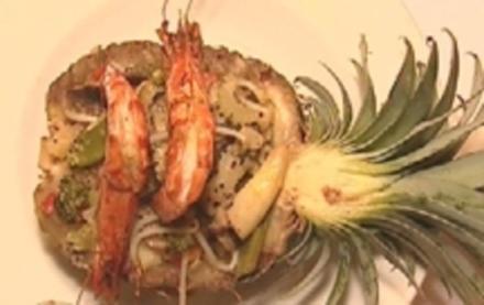 Ananas gefüllt mit Gemüsecurry auf Cashewreis mit Chiligarnelen - Rezept - Bild Nr. 9