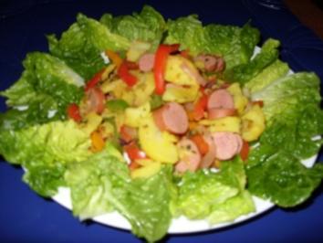 Bunter-Bratkartoffel-Salat - Rezept
