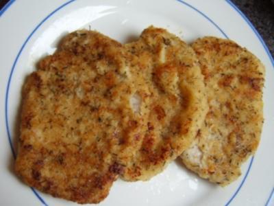 Schnitzel im Parmesan-Thymian Mantel - Rezept