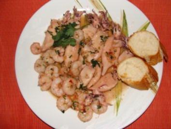 Meeresfrüchte : -Chipirones en Salsa- - Rezept